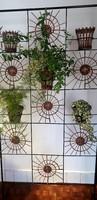 Ritka retro vas  térelválasztó virágtartó virágállvány