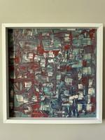 D. Szabó ART MODERN festmény 53cm x 53cm