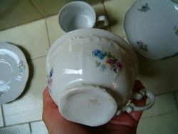 5 darab zsolnay porcelán pohár csésze tál használt réginek látszik de nem értek hozzá KIÁRUSÍTÁS
