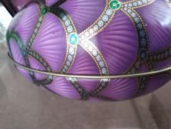 Bádog tojás dobozka, Ametiszt színben