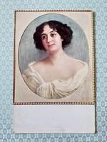 Régi képeslap 1915 Hilperth Annunciata hölgy művészi levelezőlap
