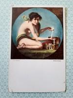 Régi képeslap V. Kandler kísértés művészi levelezőlap