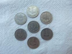 7 darab ezüst 1 pengő LOT !