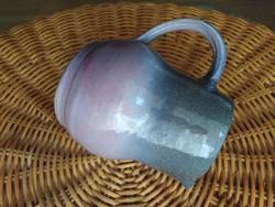 Hamvas lila, kézműves kancsó /kiöntő