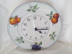 Porcelán tányér óra