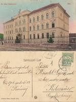 Románia Dés Kir. állami főgimnasium 1908 RK MET 1cm szakadás