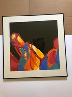 "Tamás vilmos Kovács (1951 -) ""separation"" 1993 sieve 'test print 1' in metal frame: 70.5 X 70.5 Cm."