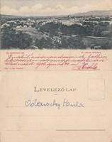 Románia Gyulafehérvár A város látképe 1906 RK MET
