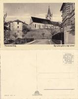 Románia Marosvásárhely Ref. vártemplom a régi várral kb1930 RK MET