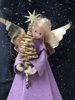 Antik angyalka fenyőfával karácsonyfadísz vagy csúcsdísz