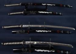 2 darabos Japán kardszett, kardállvánnyal /ÚJ/