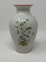 Ritka mintás, nyuszis, nyulas, húsvéti Herendi váza - CZ