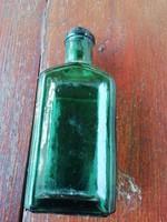 Régi zöld gyógyszeres üveg