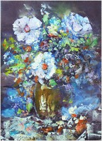 Flowers, oil painting, own creation,