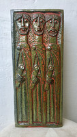 Németh János falikép Terrakotta Fali kerámia  , Görög Férfiak ! RITKA