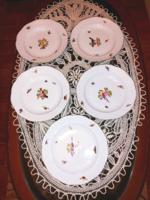 Osieaux családba tartozó madár mintás óherendi 5 darab tányér