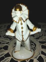 Nagyon ritka, art deco Sitzendorfer porcelán bohóc