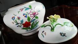 Nagyméretű Fleur Chinoise óriási Herendi porcelán bonbonier