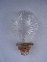 Antik üveg díszdugó      Különleges fazon.      1920 körül.      Ép állapotú       M:8,5 cm