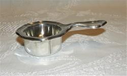 Antik Ezüst Tea Szűrő Cseppfogóval