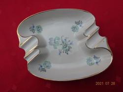 Drasche porcelán zöld virágos hamutál. Mérete: 14 x 12 x 3 cm. Vanneki!