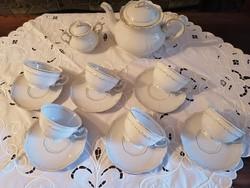 Zsolnay barokk-tollazott teáskészlet