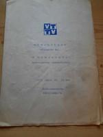 Műsorfüzet: VIDEOTON SC. VI. NEMZETKÖZI MOTOCROSS VERSENYÉRE 1975.