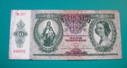 10 Pengő - csillagos bankjegy - 1936