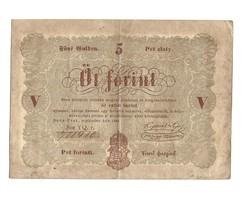 1848 as 5 forint Kossuth bankó papírpénz bankjegy 48 49 es szabadságharc pénze sor yq r.
