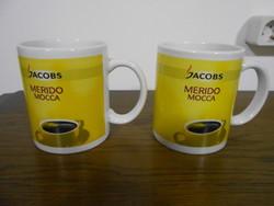 Jacobs Merido Mocca teáscsésze bögre porcelán 2 db