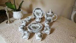 Seltmann Weiden Barock,gyönyörű szürke mintás,teás-kávés szett