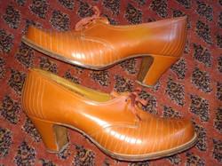 1930 stílusú antik női cipő antique brown leather woman shoe
