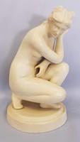 Kerámia szobor, női akt