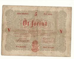 1848 as 5 forint Kossuth bankó papírpénz bankjegy 48 49 es szabadságharc pénze sor ld r