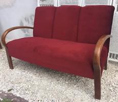 Gyönyörű formájú, Art deco kanapé, szófa