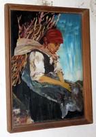 Antik üvegfestmény 121