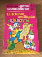 Walt Disney  Lustige Taschenbücher Nr.37 - Ehrlich spart am längsten LTB 37