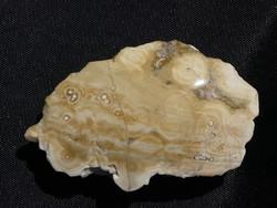 Természetes, részben csiszolt Óceán Jáspis (körkörös mintázatú riolit) ásvány darab. 42 gramm