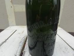 Őrhegyaljai Gőzsörfőzde Főraktára Eger üveg palack