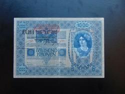1000 korona 1902 ECHT Felülbélyegzés !