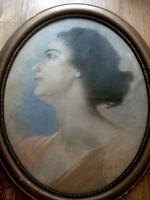 Gyönyörű pasztell festmény László London 1919