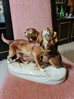 Royal Dux vadász kutyák