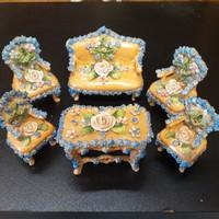 Alt Wien Porcelán Mini Bútor Szett.