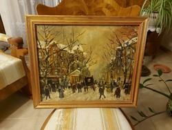 Berkes Antal ragyogó antik festménye! Andrássy út!