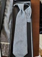 Goldenland  világosszürke ,mintás nyakkendő