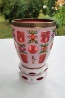Kézzel festett biedermeier pohár