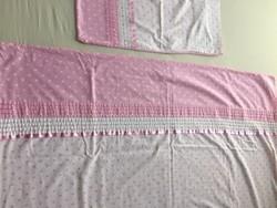 Gyönyörű rózsaszín ágynemű garnitúra kislánynak