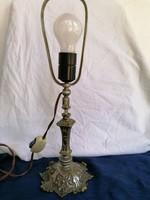 40-es évekből való réz,ezüstözött éjjeli lámpa