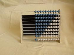 Régi műanyag golyós számoló számológép abakusz