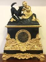 19.sz-i francia bronz asztali óra,46 cnm magas